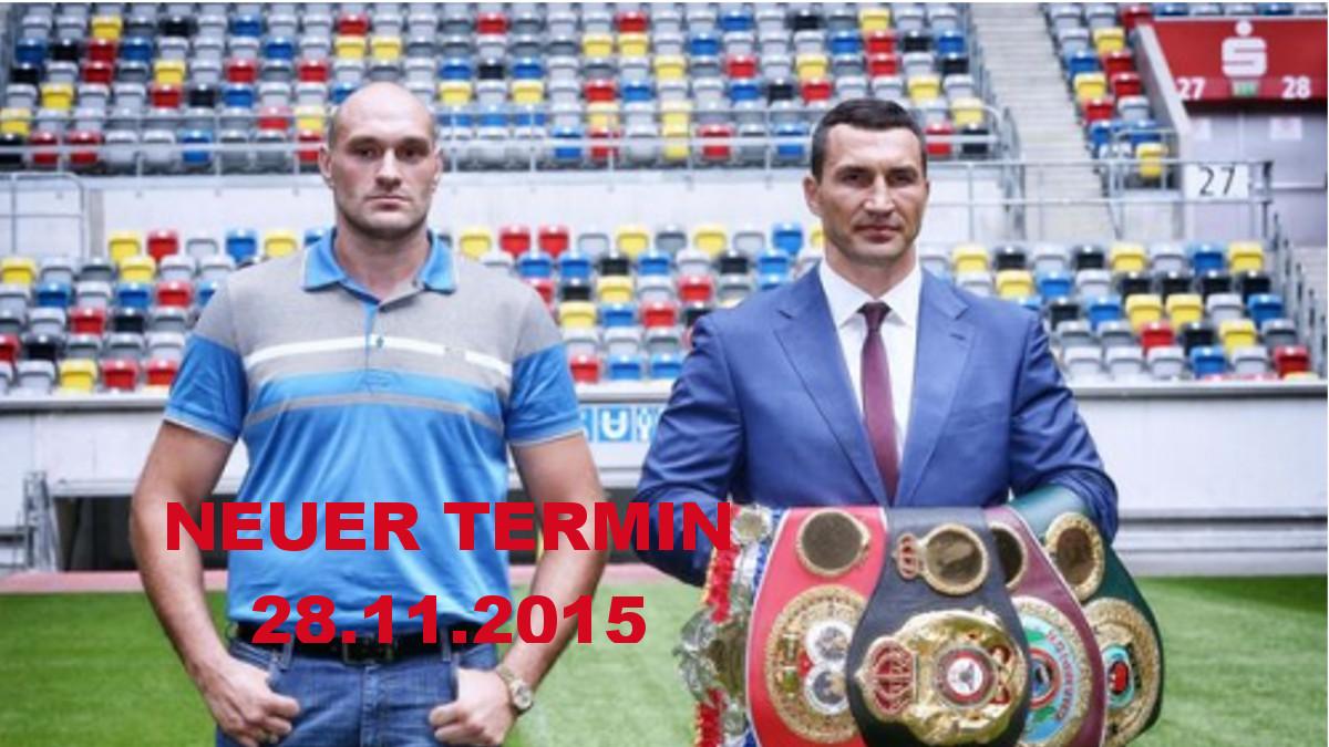 Neuer Kampftermin: Weltmeisterschaftskampf Von Wladimir Klitschko Gegen Tyson Fury Am 28. November 2015 In Der Düsseldorfer ESPRIT Arena
