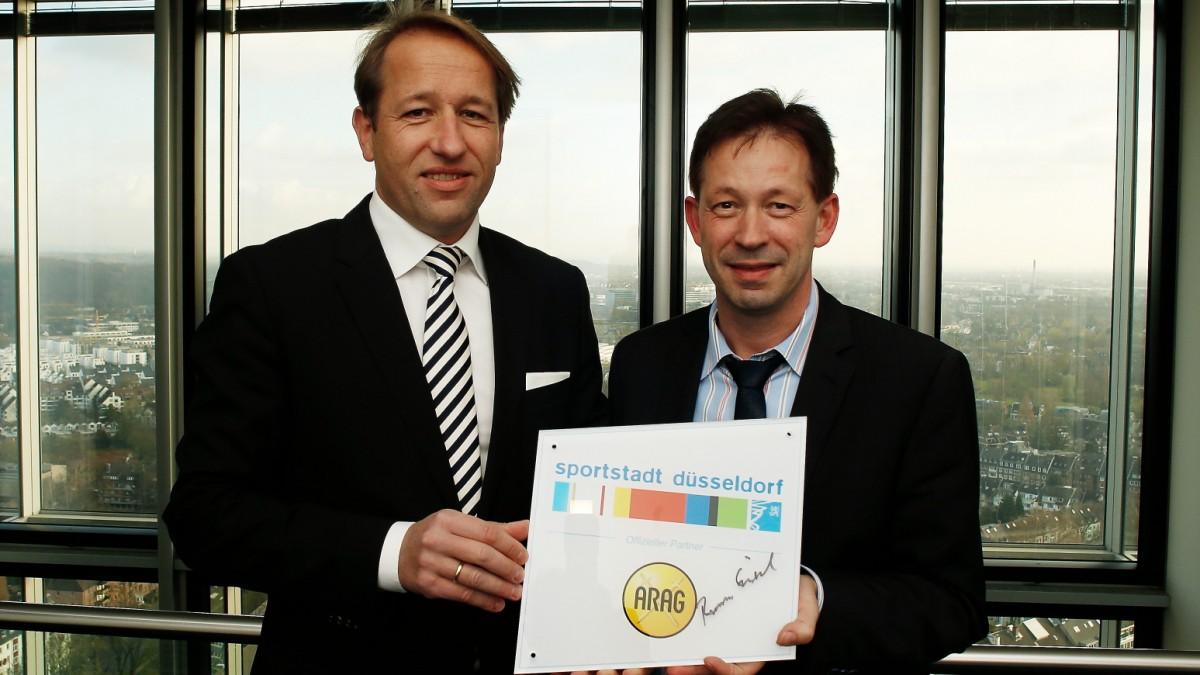 ARAG Allgemeine Versicherungs-AG Als Offizieller Partner Der Sportstadt Düsseldorf Ausgezeichnet