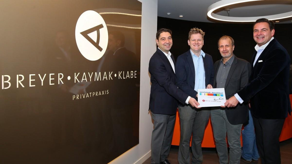 V.l. Dr Kaymak,P.Heithorn,Dr. Med.Klabe Und Dr. Breyer