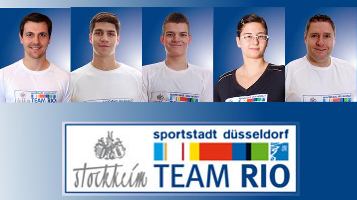 V.l.n.r.: Timo Boll, Patrick Franziska, Thomas Schmidberger, Sandra Mikolaschek Und Jochen Wollmert