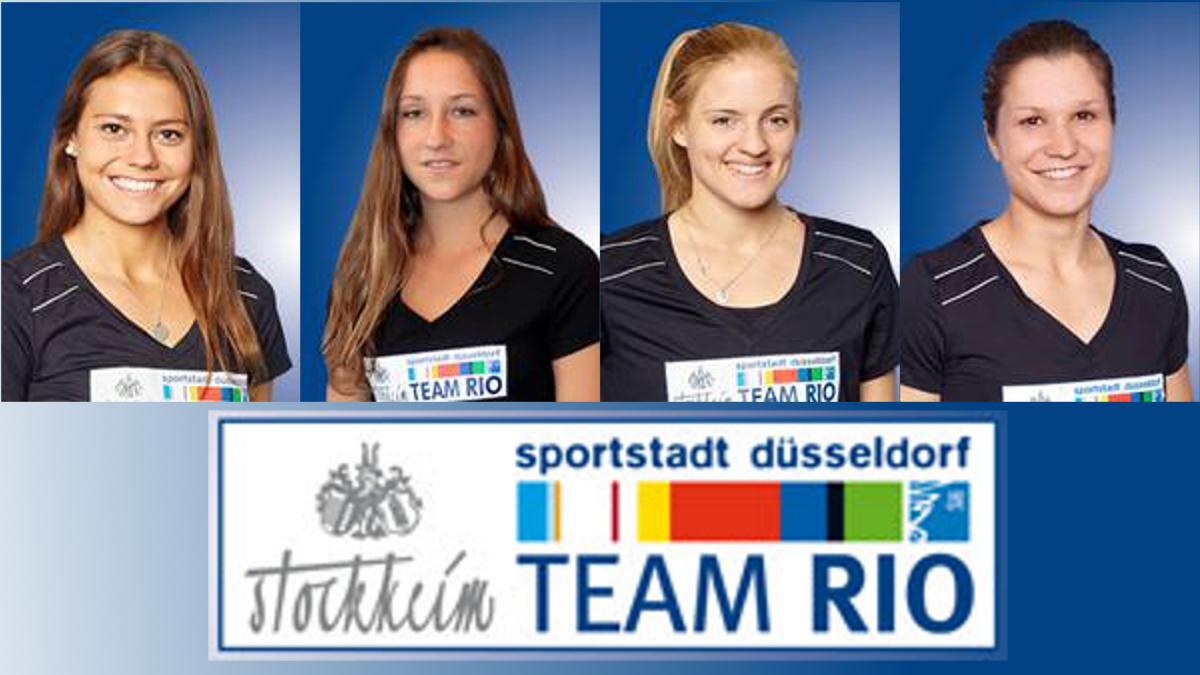 V.l.n.r.: Selin Oruz,  Lisa-Marie Schütze, Annika Sprink Und Luisa Steindor