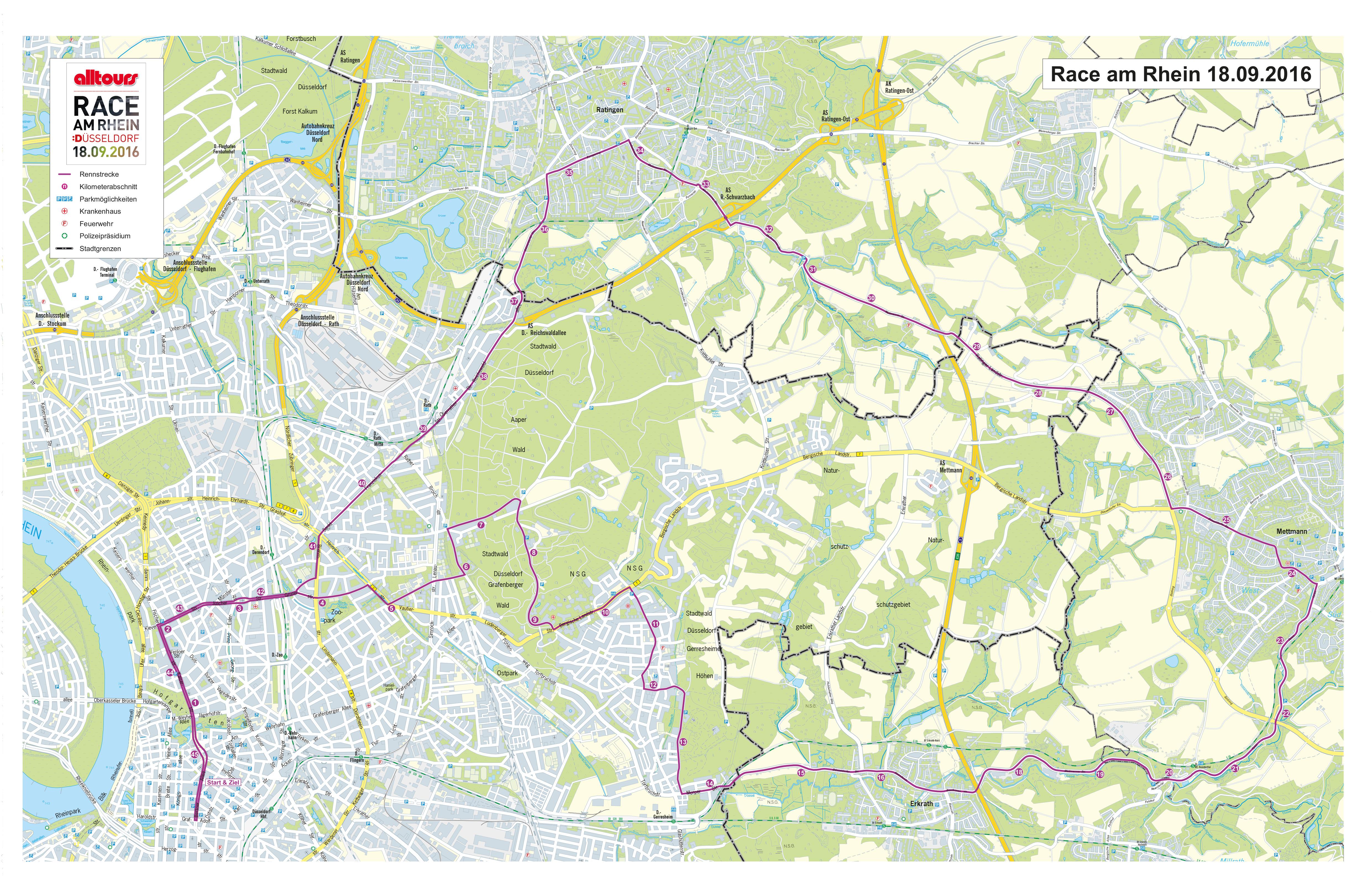 Details zur Strecke (Oberbürgermeister Thomas Geisel und Willi Verhuven, Vorsitzender der alltours Geschäftsführung,(c)Landeshauptstadt Düsseldorf