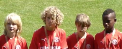 U12-Fußballer Der Fortuna In Warschau