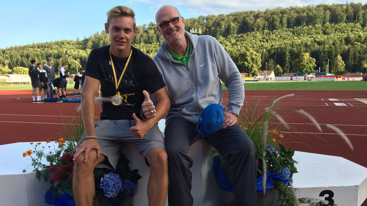 Maximilian Kluth Mit Seinem Trainer Ralf Jaros (Foto: ART Düsseldorf)