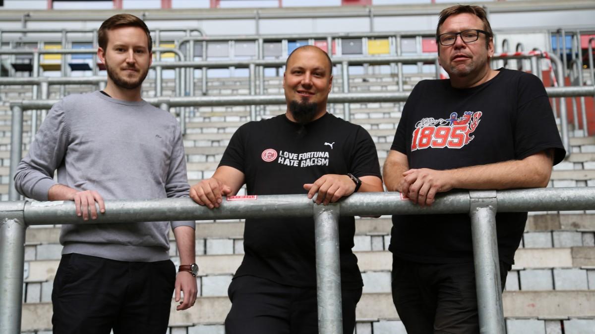 Fanbetreuung Marius Beermann, Dominik Hoffmeyer, Wolfgang Korte  (Foto: Fortuna Düsseldorf)