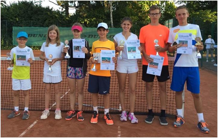 Das Erfolgreiche Team: Jan Gewaltig, Mirja Hollenberg, Emelie Hamers, Matias Lofink, Noemi Sante, Max Lenz Und Sven Thiergard