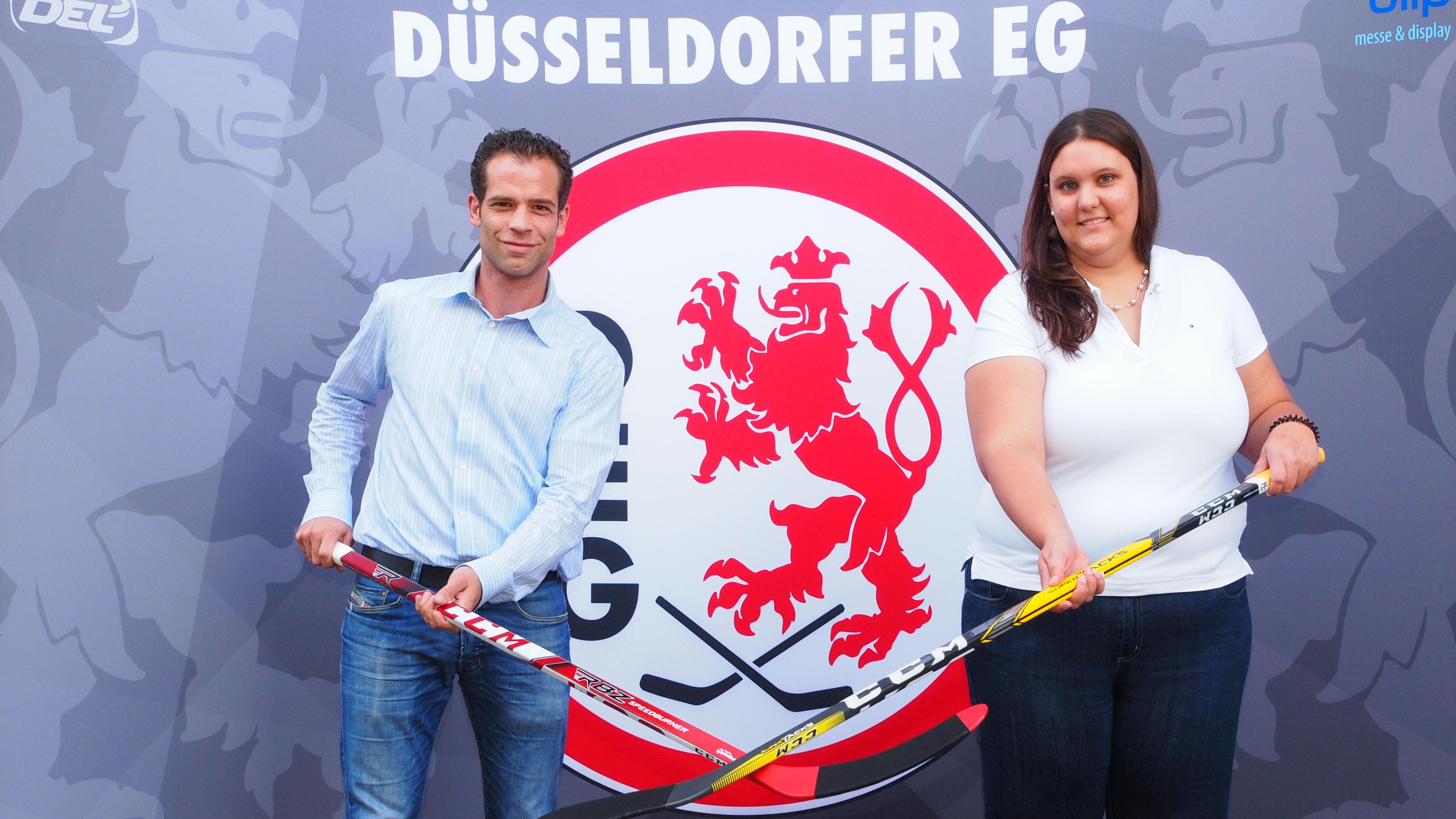 Stefanie Dirszus Und Niki Mondt, Assistent Der Geschäftsführung DEG Eishockey GmbH