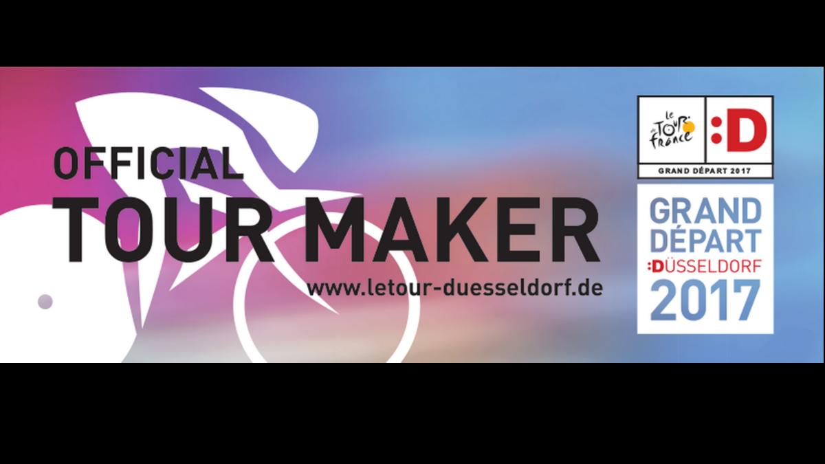 """Official Tour MAKER"" Aufkleber (Foto: Landeshauptstadt Düsseldorf)"