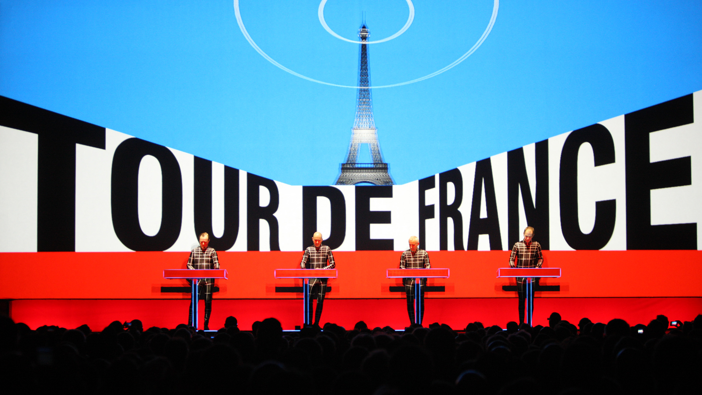 KRAFTWERK 3-D Open Air Konzert Zum Start Der Tour De France In Düsseldorf,(c)PHOTO + WORLDWIDE 2015 © By PETER BOETTCHER - Www.PETERBOETTCHER.de - ALL PHOTOGRAPHS ARE COPYRIGHTED AND MAY NOT BE REPRODUCED IN ANY FORM, STORED, OR MANIPULATED WITHOUT PRIOR WRITTEN PERMISSION - ONLY FOR ONE TIME PRESS RELEASE