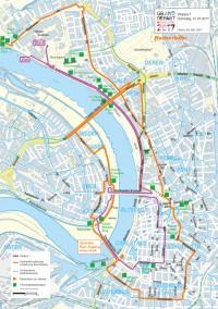 Für Besucher, die mit dem Rad anreisen, gibt es mindestens 33.000 zusätzliche Abstellanlagen