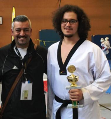 Trainer Inan Tunc und Bouzza EL Hainouni