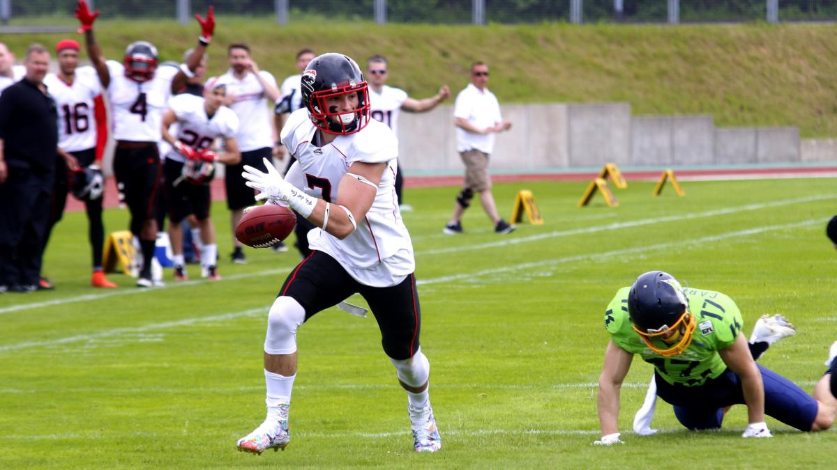 (Foto: American-sports.info/Till Janssen Läuft Zum Touchdown)