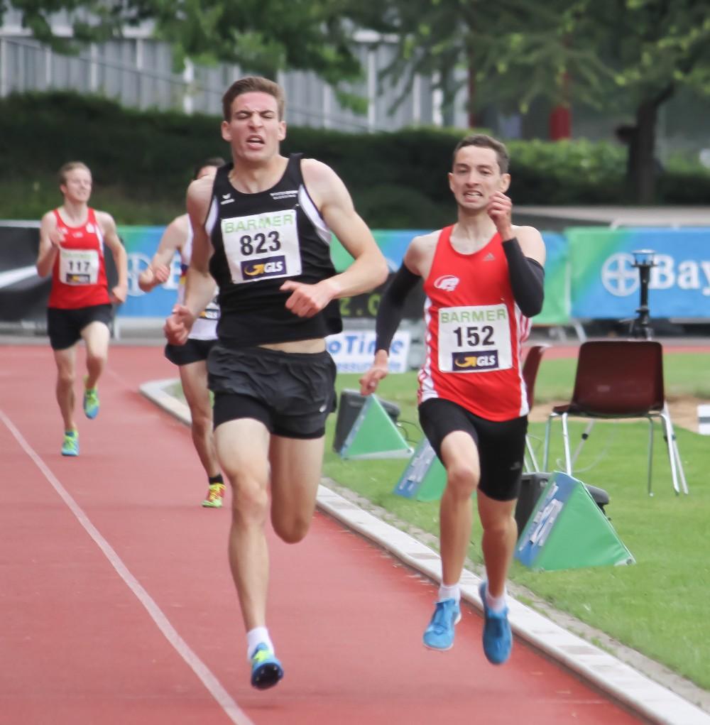 Maximilian Thorwirth (rechts) gewinnt Gold beim 5000-Meter-Lauf und Silber beim 1500-Meter-Lauf bei der U23-DM.