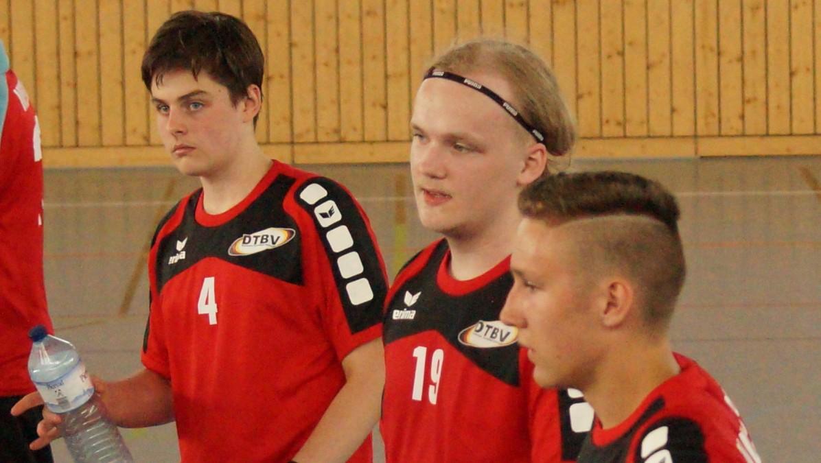 V.l.n.r.: TBH Teamkollegen Luca Engelen, Alex Zoch, Mauro Van Noppen