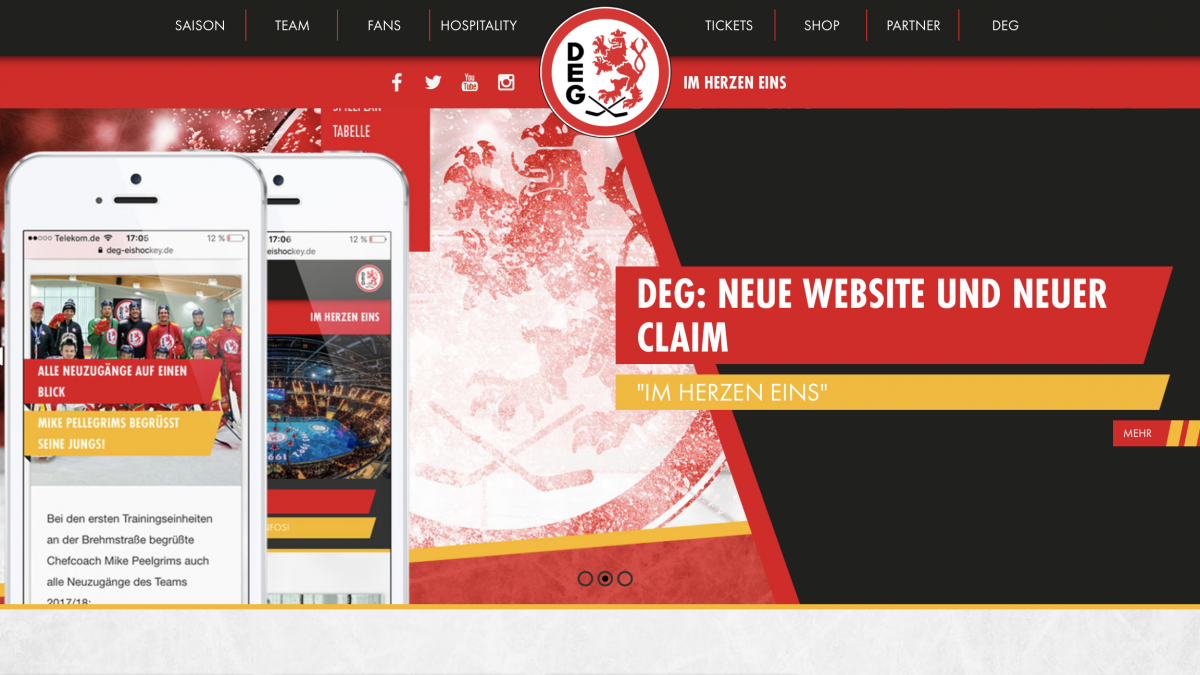 DEG Neue Webseite
