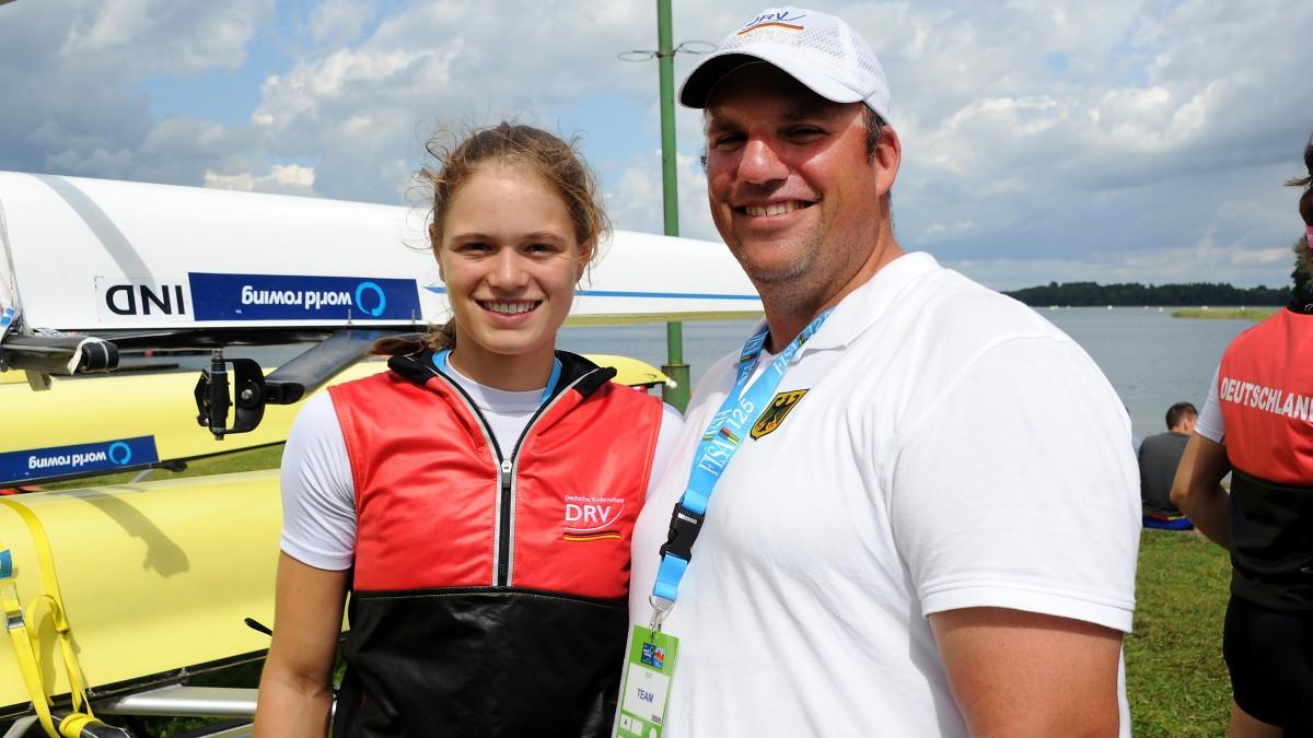 Leonie Menzel Und Marc Stallberg (Foto:  RCGD/MeinRuderbild.de /Detlev Seyb)