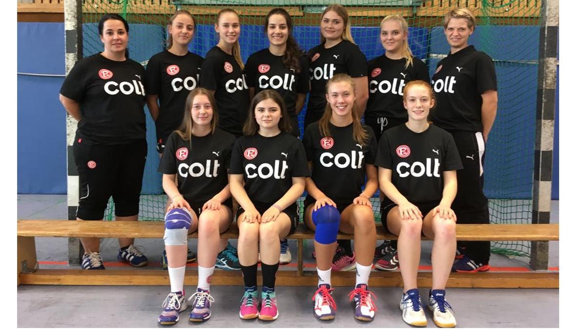 Die Mannschaft Der Weiblichen A2 Von Fortuna Düsseldorf