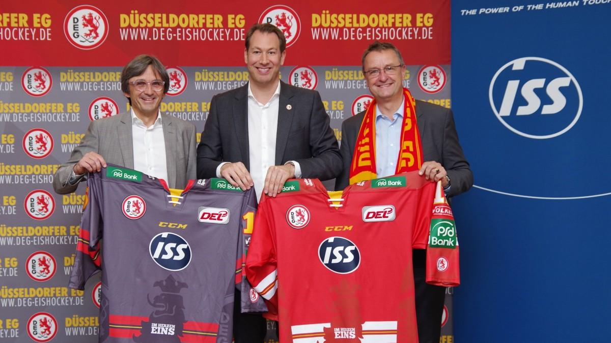 V.l. Frank Merry (ISS), Stefan Adam (Geschäftsführer DEG) Und Dr. Alexander Granderath, Country Manager Von ISS Deutschland (Foto: DEG)