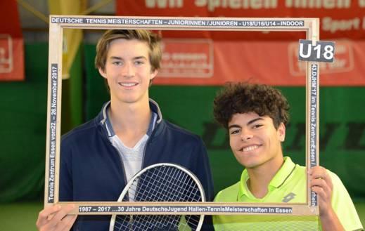Sieger im Doppel U18: Henri Squire und Marlon Vankan (Foto: Klaus Molt)