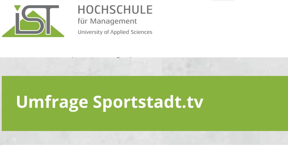 Umfrage Sportstad Tv