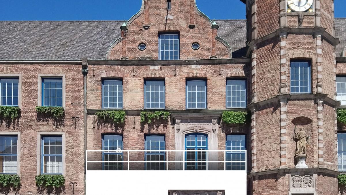Eine Schematische Darstellung Des Balkons Am Düsseldorfer Rathaus Auf Dem Sich Das Aufstiegsteam Von Fortuna Düsseldorf Am 14. Mai Den Fans Präsentieren Wird - Natürlich Dann Entsprechend Geschmückt (Foto: Landeshauptstadt Düsseldorf)