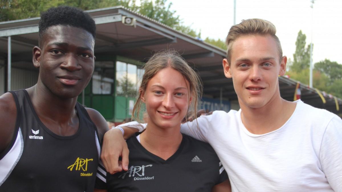 Die Erfolgreichen ART-Mehrkämpfer Bei Den Deutschen Meisterschaft, V.l.: Jaron Boateng (Gold Bei Der U 18), Annkathrin Hoven (Silber Bei Der U 18) Und Maximilian Kluth (Gold Bei Der U 20)