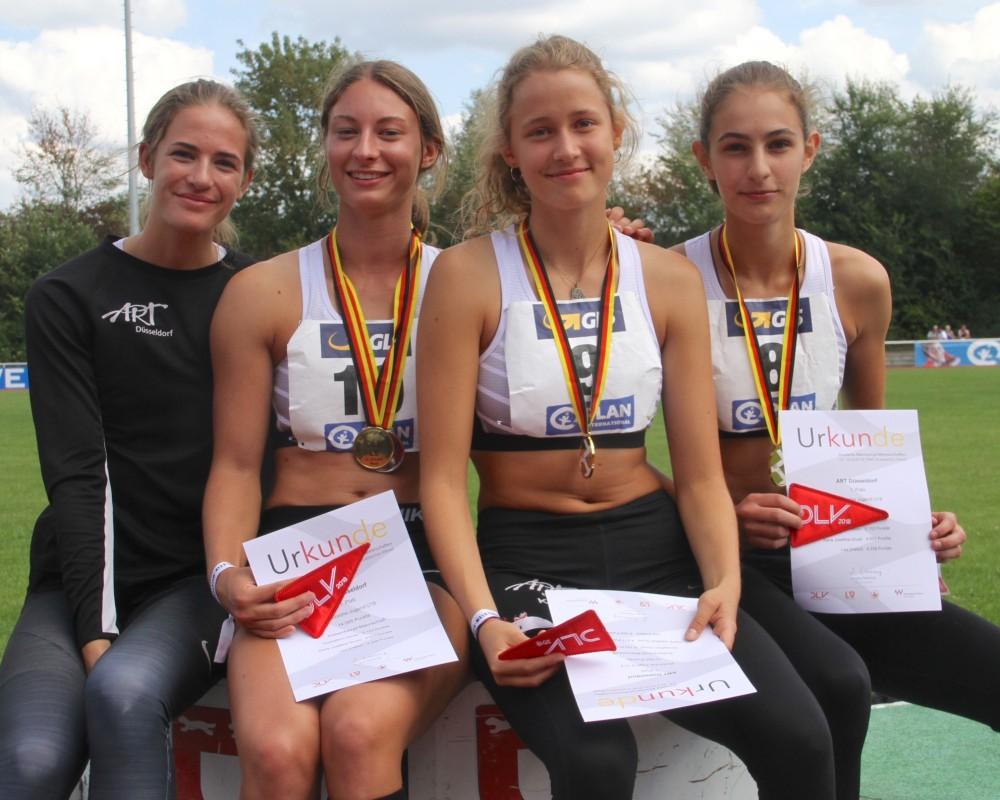 Das Gold-Team von links: Kaja Bins, Annkathrin Hoven, Karla Gruss und Lea Dreilich
