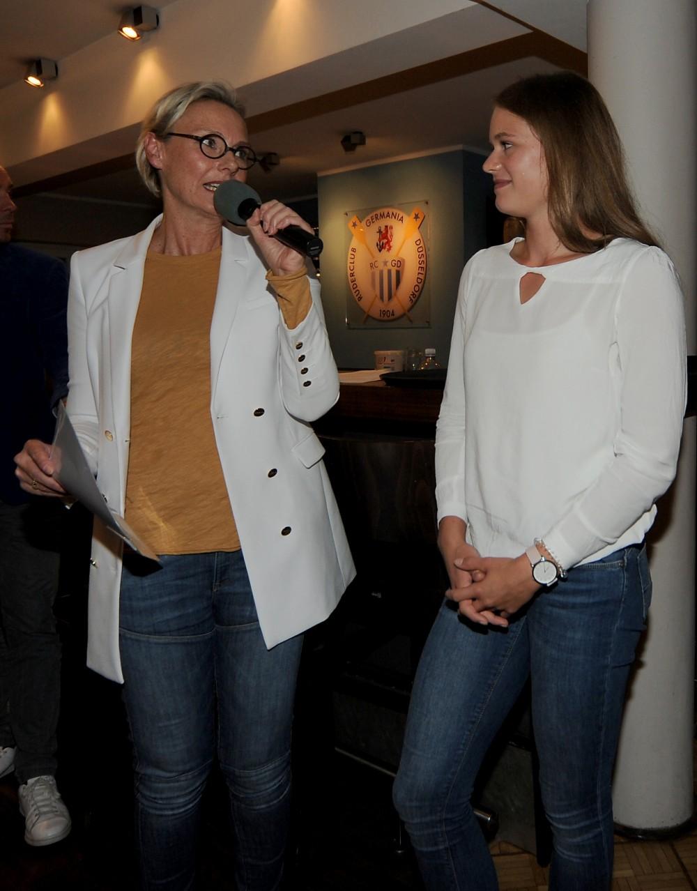 Kathrin Schmack mit Leonie Menzel (Foto: RCGD, Maren Derlien)