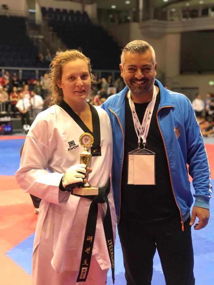 Sara di Sinno mit Trainer Inan Tunc (Foto: Sportwerk)