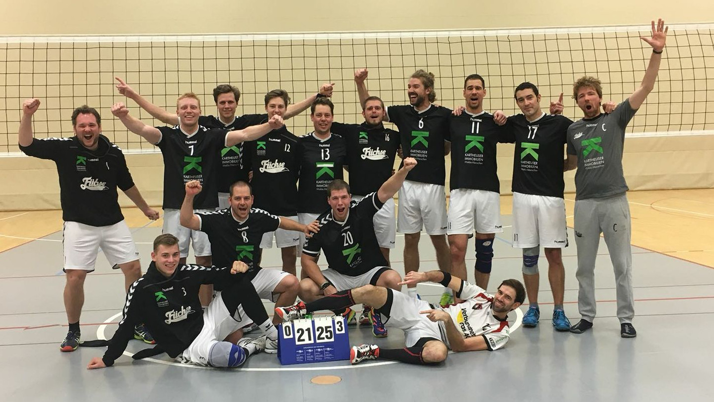 Volleyball Fuechse Steigen 2018 In Die Dritte Liga Auf