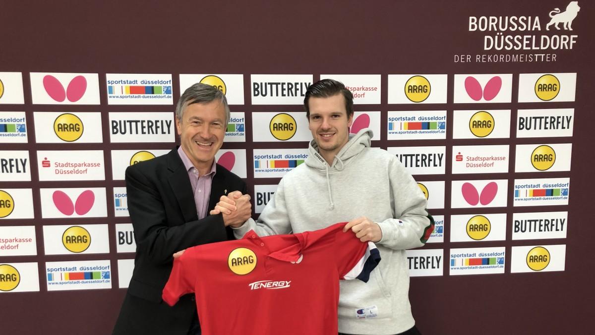 Andreas Preuß, Manager (l.) Und Neuzugang Ricardo Walther (Foto: Borussia Düsseldorf)