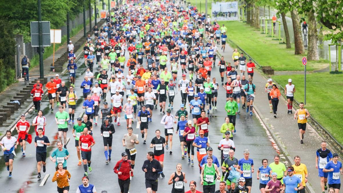 Uch In Diesem Jahr Beherrschen Am 28. April Die Marathon-Läuferinnen Und -Läufer Die Düsseldorfer Straßen. (Foto: Melanie Zanin/Landeshauptstadt Düsseldorf)