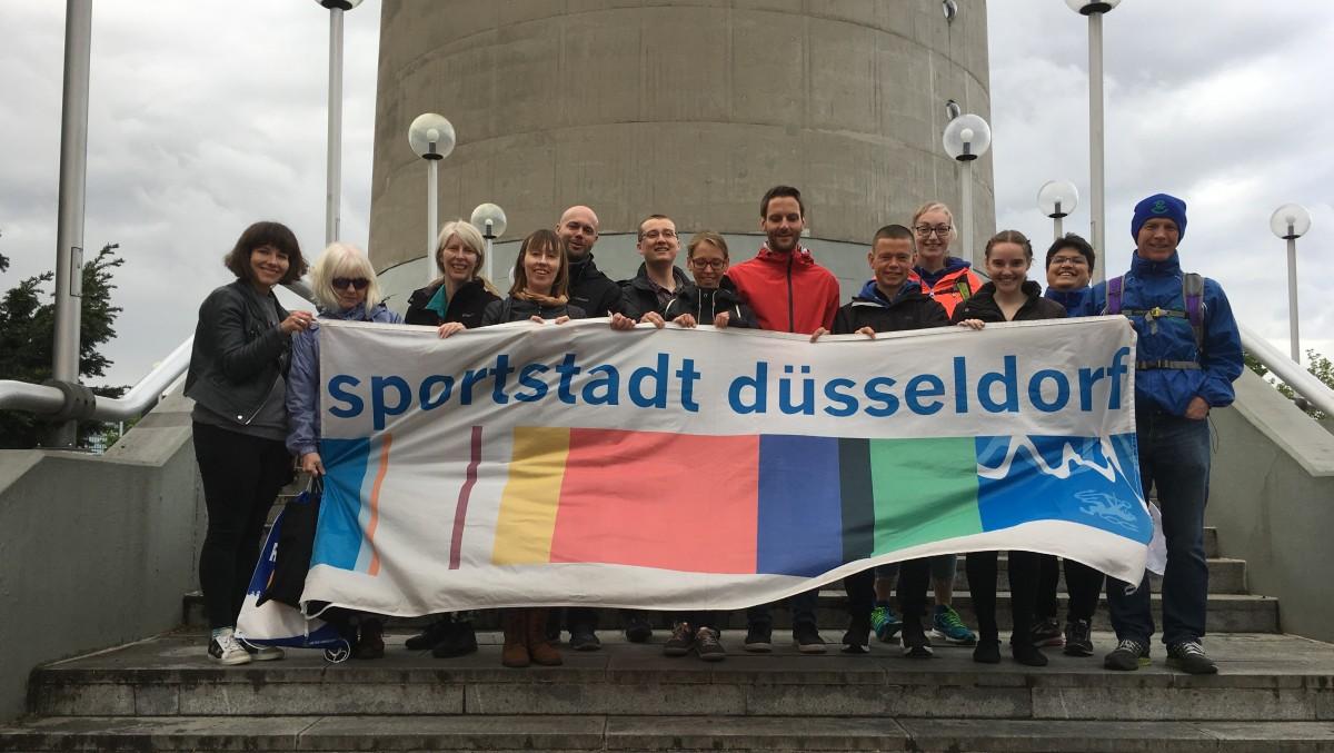 Aktive Aus Den Partnerstädten Reading Und Chemnitz Nahmen Am Metro Marathon Teil (Foto: Landeshauptstadt Düsseldorf)