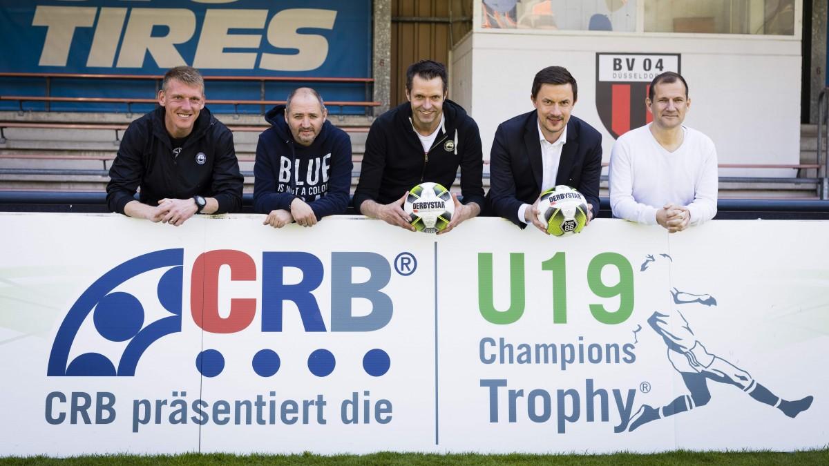 V.l.n.r.: Axel Bellinghausen, Oliver Neuville, Martin Meyer, Marcus Giesenfeld Und Sinisa Suker (Foto:  Moritz Müller /CRB U19 Champions Trophy)