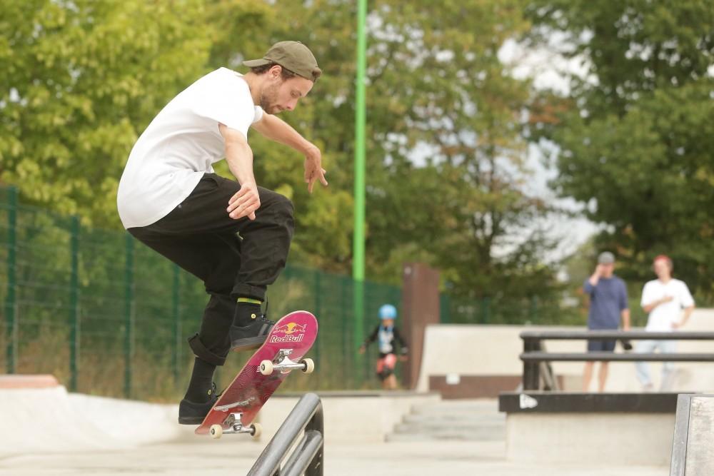 Jost Arens, amtierender Deutscher Skateboard Meister in der Disziplin Street Männer (Foto: David Young)