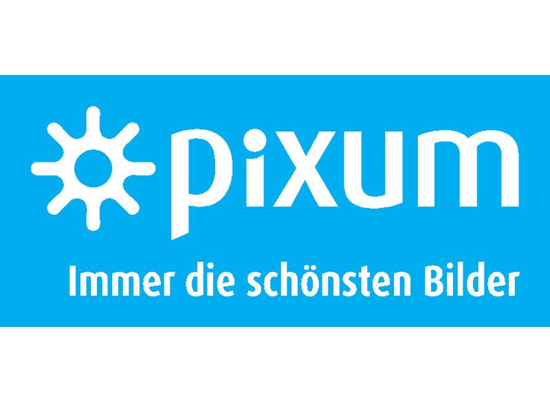 Pixum Logo Claim White DE Cyan Bg 800x600