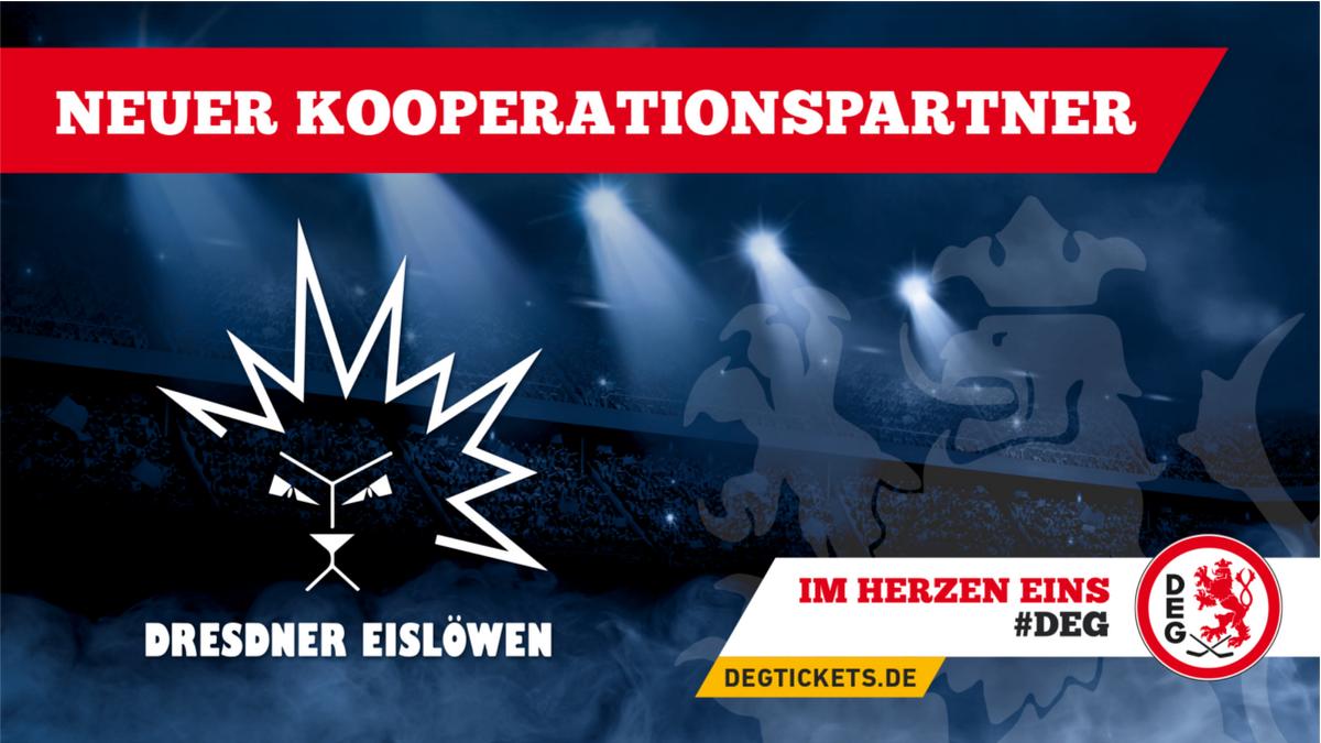 Dresdener Eislöwen sind neuer Kooperationspartner der DEG!