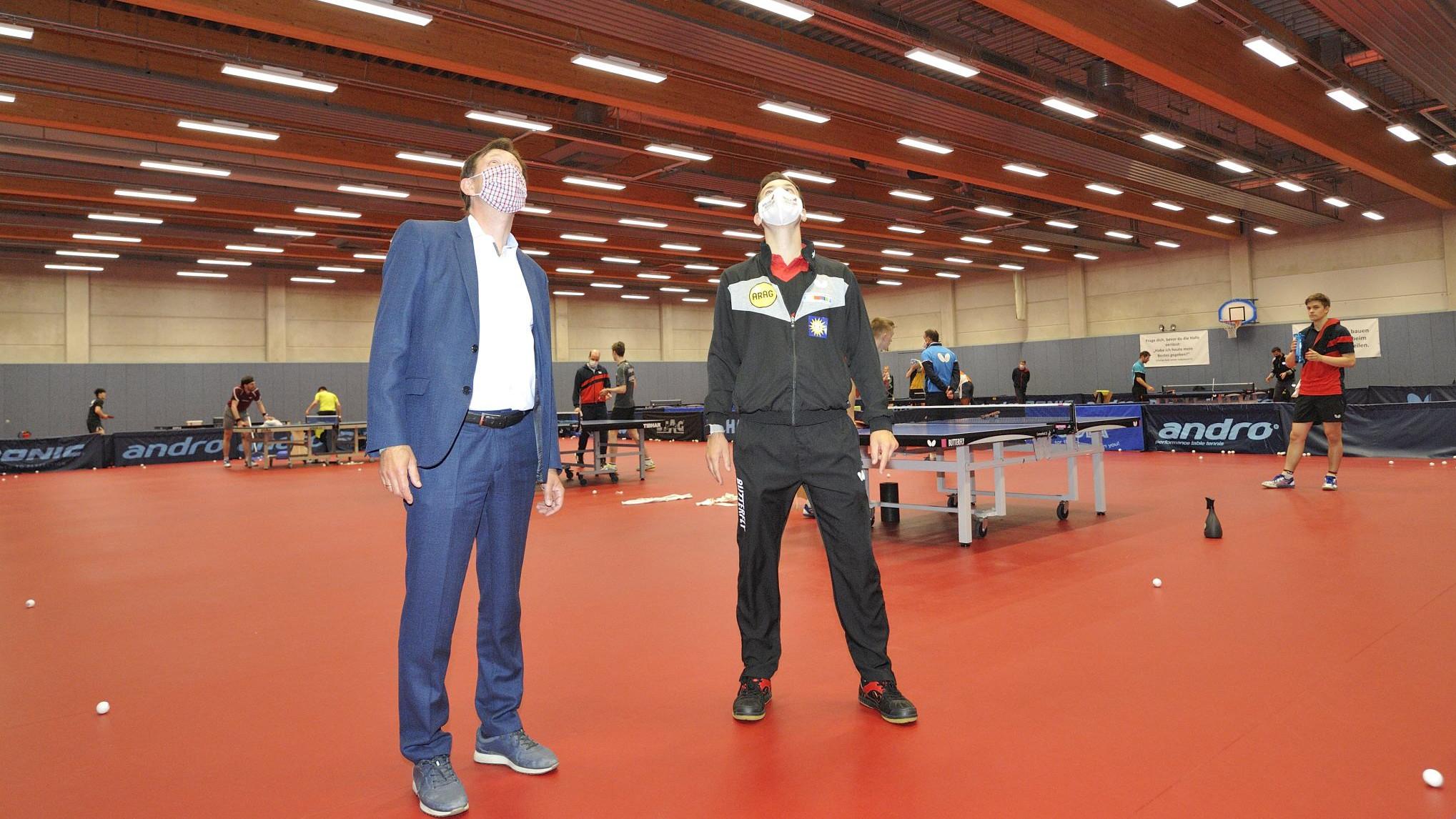 Neue LED-Lampen Für Das Deutsche Tischtennis-Zentrum