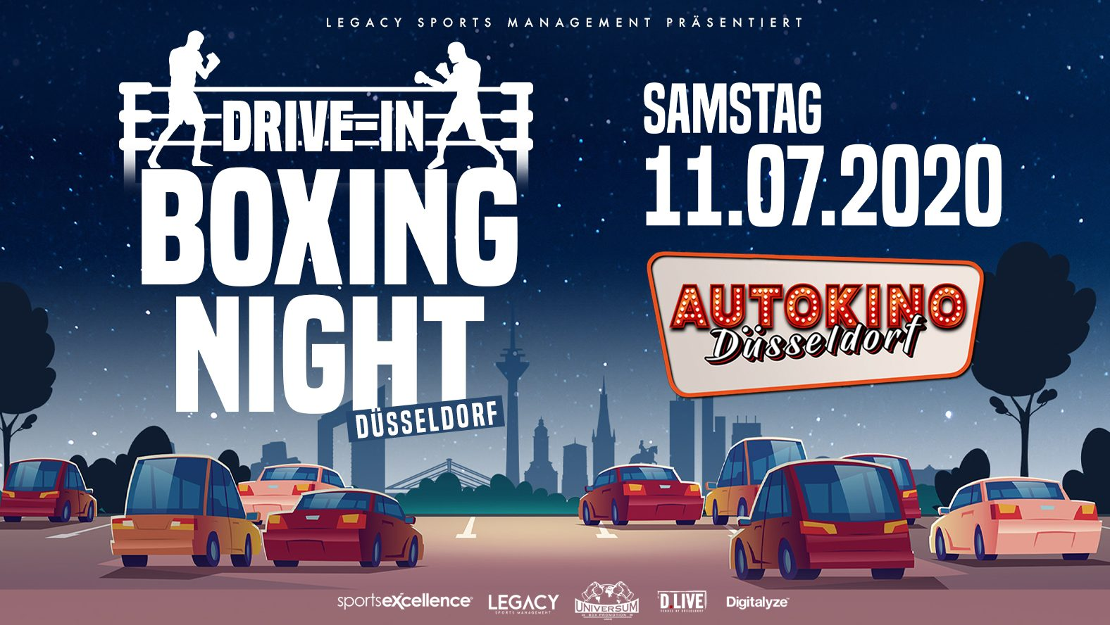 Am 11. Juli 2020 steigen im Autokino internationale Profiboxer in den Ring