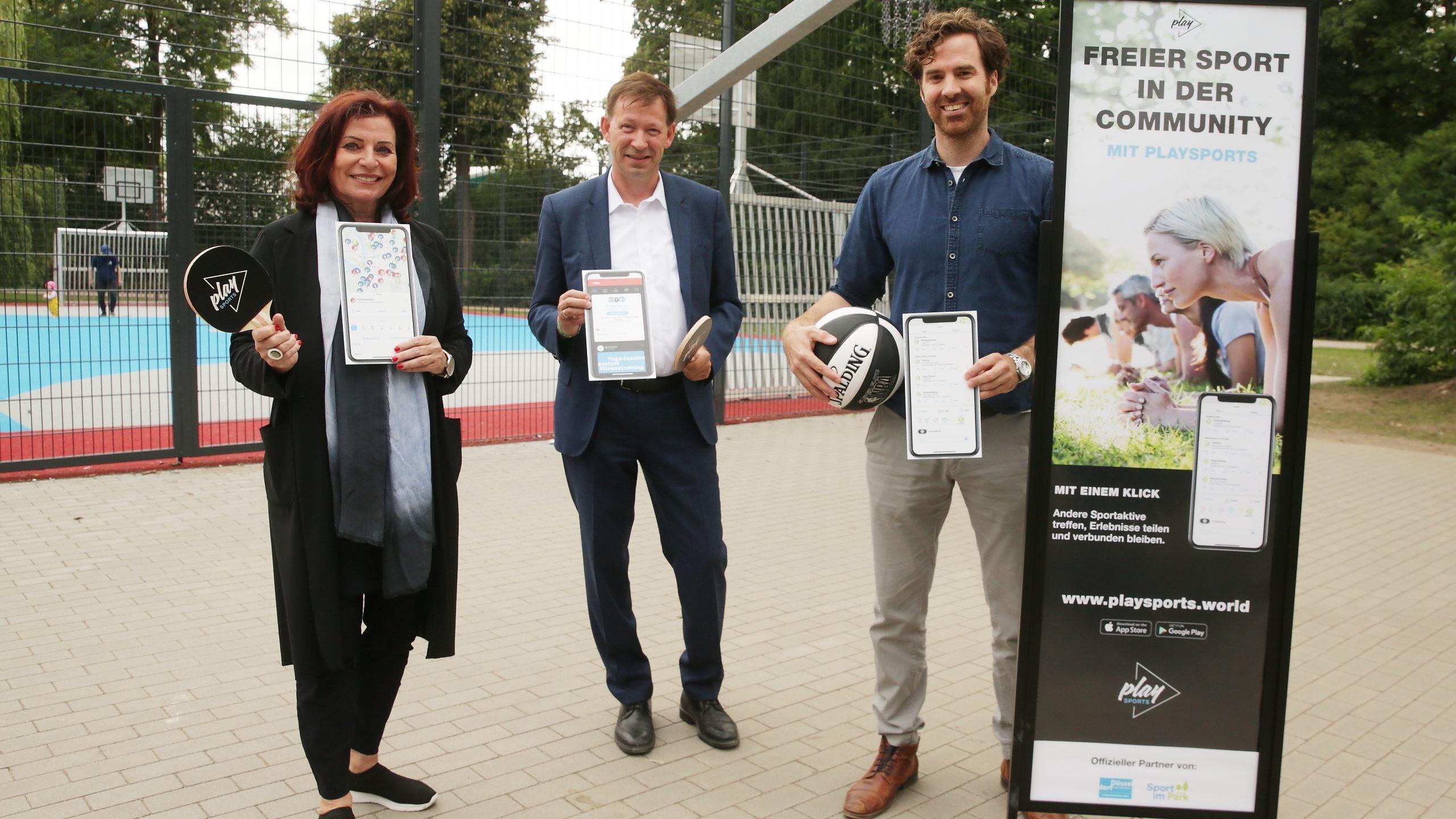 Mit der App PLAYSPORTS wird Sport in Düsseldorf digital
