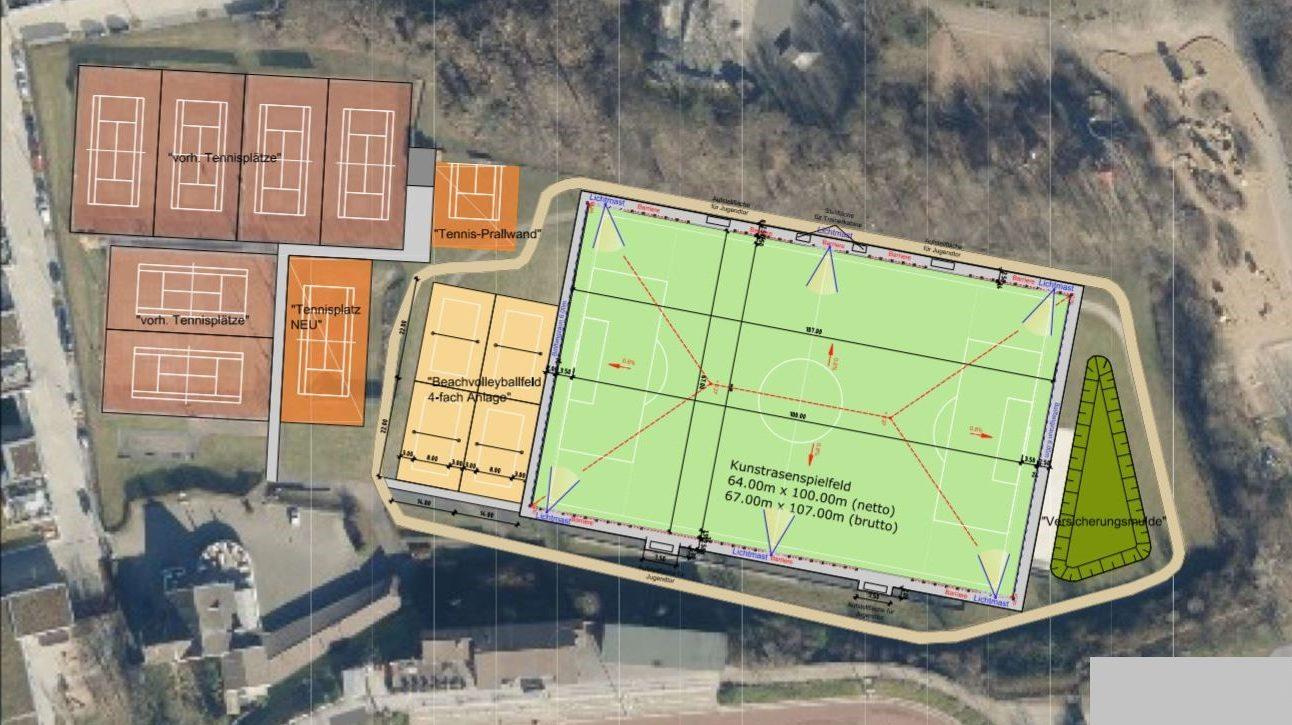 Ausbau des Sportparks Flehe