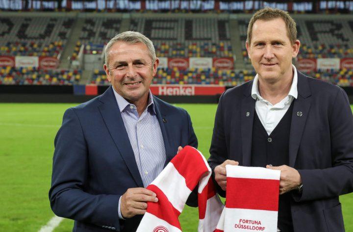 Klaus Allofs und Uwe Klein wollen sehr eng zusammenarbeiten. Foto: Beele