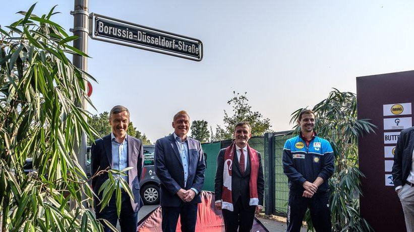 Borussia Düsseldorf hat eine eigene Straße