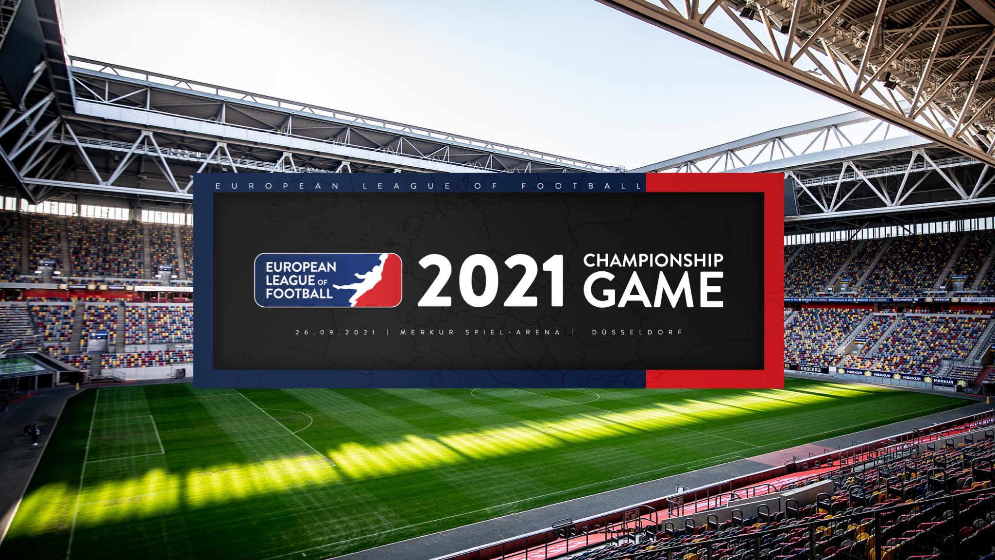Acht Teams, ein Ziel: Das Finale der European League of Football findet in der MERKUR SPIEL-ARENA statt
