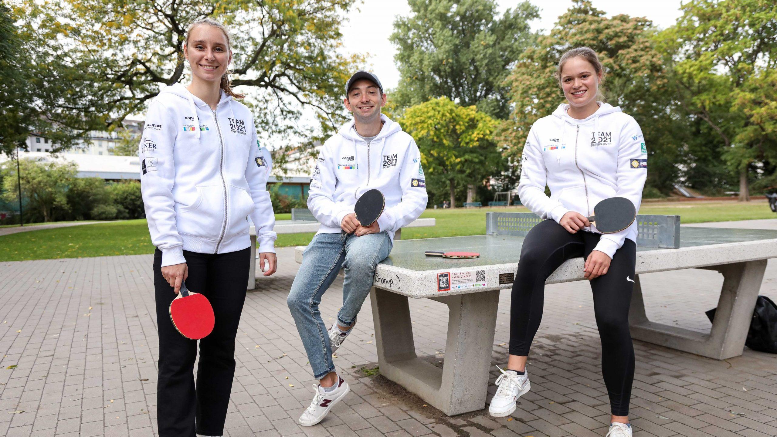 TEAM 2021 Athleten:innen unterstützen Tischtennis-Kampagne