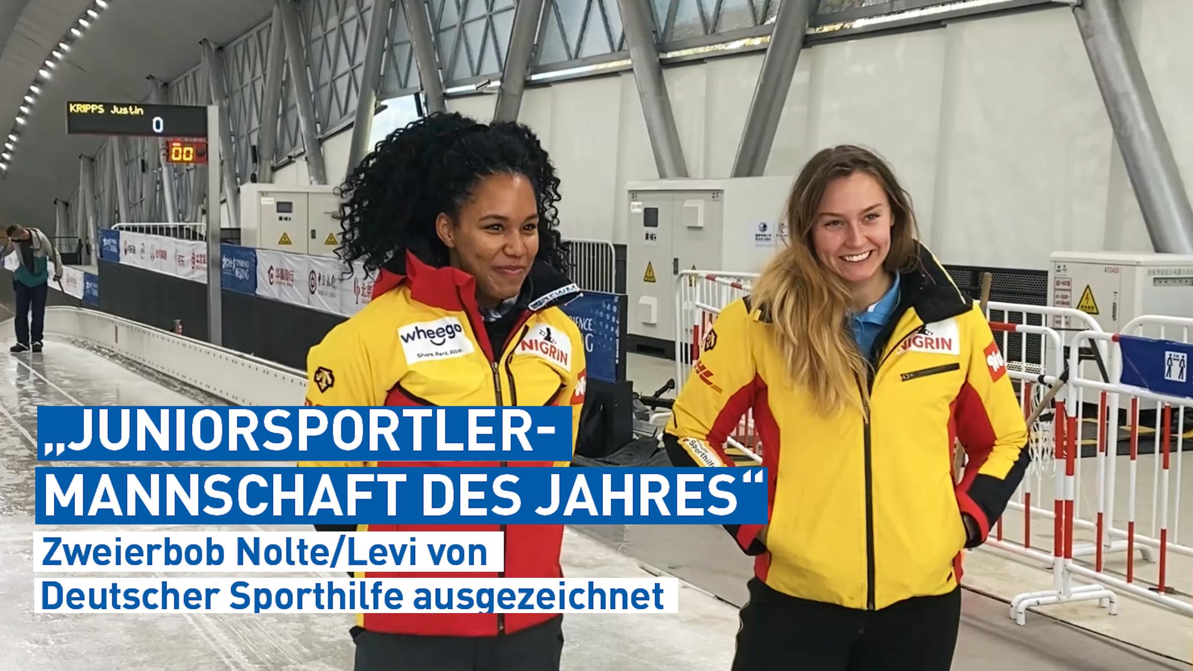 """Zweierbob Nolte/Levi ist """"Juniorsportler-Mannschaft des Jahres"""""""
