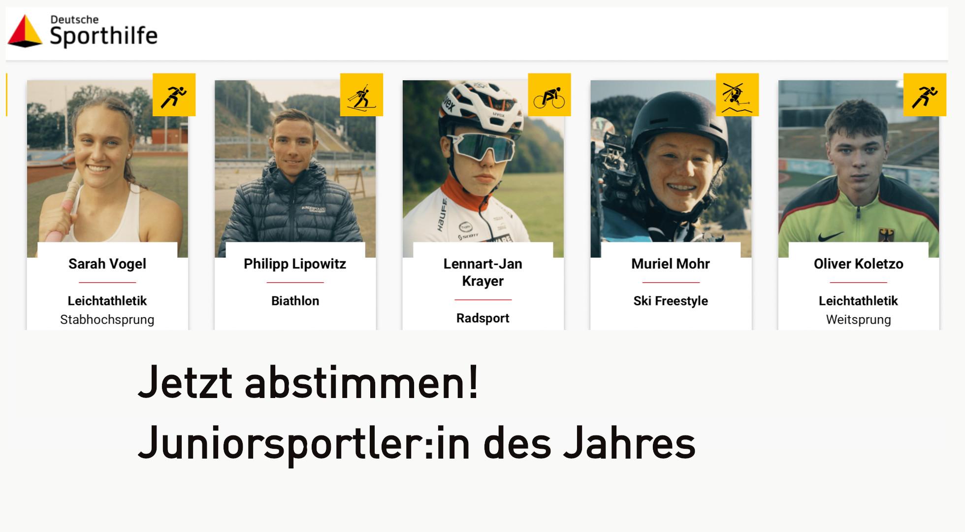 """Wer wird """"Juniorsportler:in des Jahres"""" 2021?"""